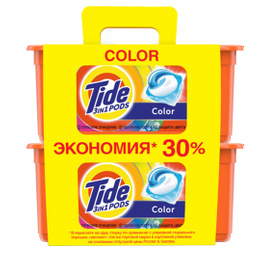 Капсулы Tide Color 3 в 1 для стирки 2х30 шт