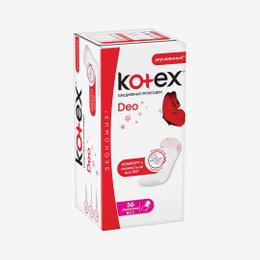 Прокладки ежедневные Kotex Deo ультратонкие 56 шт