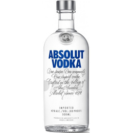 Водка Absolut Blue 40% 1 л Швеция